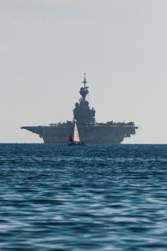 Premiera pentru portavionul francez Charles de Gaulle: Primele lovituri contra ISIL in Siria