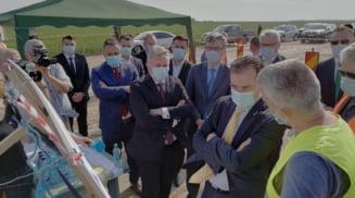 Premierul Ludovic Orban, vizita la Drumul Expres Craiova - Slatina - Pitesti