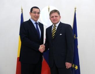 Premierul Slovaciei a anuntat la Palatul Victoria ca si-a anulat intalnirea cu Basescu