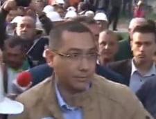 Premierul Victor Ponta s-a dus la Rosia Montana si intra in subteran