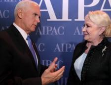 Premierul Viorica Dancila anunta ca se va intalni in SUA cu vicepresedintele Mike Pence