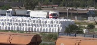 """Premierul afirma ca in Portul Constanta exista o cantitate mare de azotat de amoniu: """"Acesta este contractat si urmeaza sa fie transportat catre destinatii"""""""