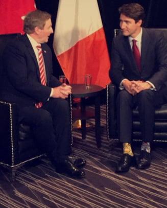 Premierul canadian a purtat sosete cu Star Wars la o intalnire oficiala (Foto)