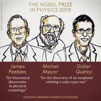 Premiul Nobel pentru Fizica, acordat pentru descifrarea misterelor evolutiei universului