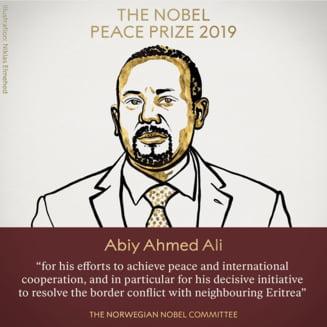 Premiul Nobel pentru Pace a fost castigat de premierul Etiopiei, pentru istorica pace cu Eritreea