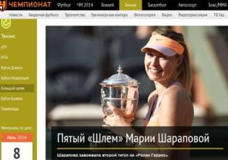 Presa din Rusia: Simona Halep n-a facut fata puterii Mariei Sharapova