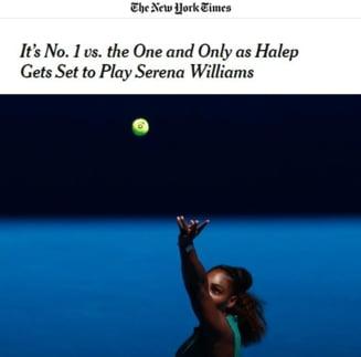Presa din SUA, despre meciul Simona Halep - Serena Williams: Iata ce scriu New York Times, Washigton Post si ESPN