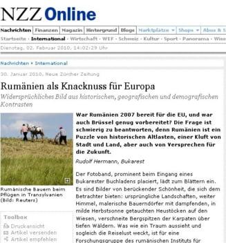 Presa elvetiana: Romania, nuca tare a Europei