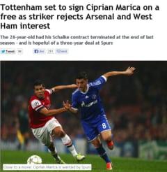 Presa engleza despre transferul lui Marica la Tottenham