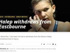 Presa internationala, despre retragerea Simonei Halep de la Eastbourne: Ce scriu BBC si ESPN