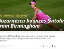 Presa internationala, despre succesul Mihaelei Buzarnescu in fata Elinei Svitolina: Iata ce scriu L''Equipe si WTA