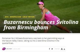Presa internationala, despre succesul Mihaelei Buzarnescu in fata Elinei Svitolina: Iata ce scriu L'Equipe si WTA