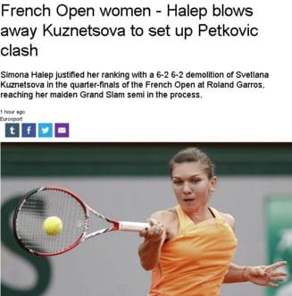 Presa internationala, despre victoria fabuloasa a Simonei Halep la Roland Garros