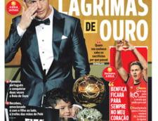 Presa internationala, intre lacrimile lui Cristiano Ronaldo si contestatarii acestuia