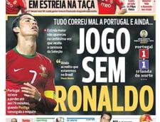 Presa lusitana, foc si para pe Cristiano Ronaldo