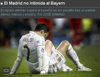 Presa spaniola, despre eliminarea Realului din Champions League