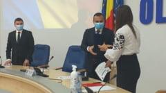 Presedintele CJ Olt, Marius Oprescu, si noii consilierii judeteni au depus juramantul