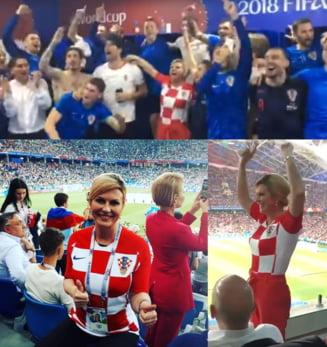 Presedintele Croatiei a facut spectacol la Cupa Mondiala (Foto si video)