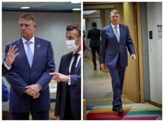 Presedintele Klaus Iohannis, surprins fara masca la Consiliul European. Reactia Administratiei Prezidentiale