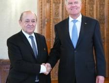 Presedintele Klaus Iohannis si ministrul de Externe al Frantei Jean-Yves Le Drian