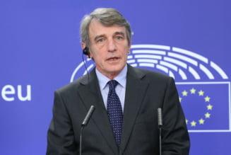 Presedintele Parlamentului European, David Sassoli: Avem nevoie de o Europa care nu se izoleaza la Bruxelles