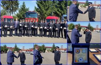 Presedintele Uniunii Elene din Romania, gest impresionant in semn de respect fata de pompierii prahoveni care au intervenit in dezastrele din Grecia