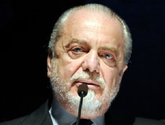 Presedintele clubului de fotbal Napoli, testat pozitiv cu coronavirus. Magnatul italian a umblat fara masca pe fata