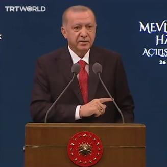 "Presedintele turc Erdogan indeamna turcii sa boicoteze produsele frantuzesti si acuza anumiti lideri europeni de ""fascism"" si ""nazism"""