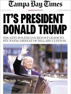 President Trump: Cum arata prima pagina a ziarelor care anunta victoria republicanului (Galerie foto)