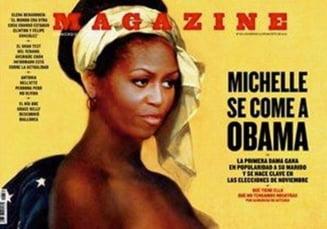 Prima Doamna a SUA: Sclava nud pe coperta unei reviste