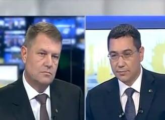 Prima dezbatere Ponta-Iohannis: Lovituri sub centura de ambele parti (Video)