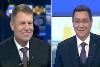 Prima dezbatere Ponta-Iohannis: Zambete si strangeri de mana. Ponta a venit cu sotia (Galerie foto)