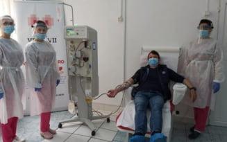 Prima recoltare de plasma hiperimuna, la Buzau, pentru tratarea pacientilor cu COVID-19. Donatorul are 30 de ani