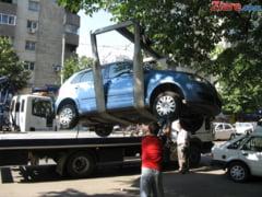 Primaria Capitalei a inceput ridicarea masinilor parcate ilegal - rezultatele dupa prima zi