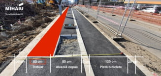 Primaria Capitalei construieste trotuare skinny, pe Soseaua Fabrica de Glucoza. Care e explicatia