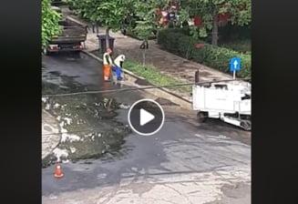 """Primaria Focsani lamureste situatia """"asfaltarii pe timp de ploaie"""""""