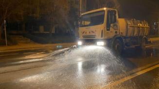 Primaria Pitesti a intrerupt actiunile de dezinfectie a strazilor, aleilor si trotuarelor din oras