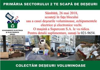 Primaria Sectorului 2 colecteaza gratuit, sambata, deseuri de la populatie