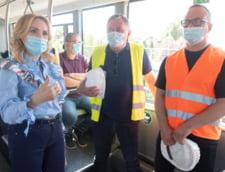 Primarul Gabriela Firea a inaugurat noua sosea Fabrica de Glucoza. Edilul promite ca va reface spatiile verzi