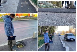 """Primarul Sectorului 6, Ciprian Ciucu, un car de nervi la receptionarea unei lucrari: """"Cine sapa un sant trebuie sa repare tot trotuarul, ca la Oradea"""""""