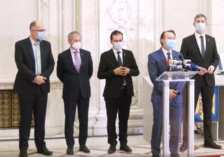 """Primele reactii ale liderilor coalitiei de guvernare dupa consultarile de la Cotroceni. Florin Citu: """"Sunt gata sa imi asum aceasta responsabilitate"""""""