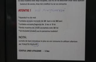 """Primele toalete """"puplice"""" civilizate din Galati, pregatite pentru mitingul PSD de sambata"""