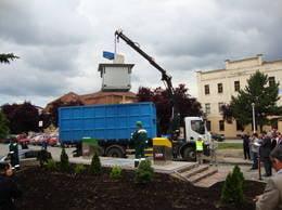 Primul oras din Romania care are containere subterane pentru deseuri