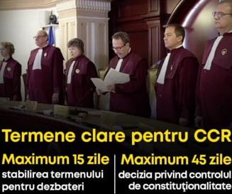 Primul proiect de lege depus in noul Parlament: Sunt stabilite termene clare pentru dosarele de la CCR
