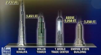 Primul turn al WTC a devenit cea mai inalta cladire din New York