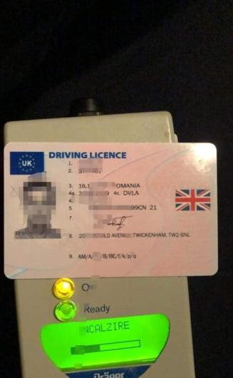 Prins in trafic cu un permis fals
