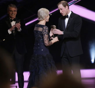 Printul William, catre o actrita, la Premiile BAFTA: Ar trebui sa-ti spun bunica!