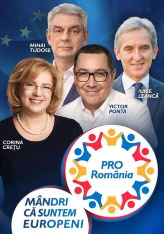 Pro Romania isi prezinta duminica