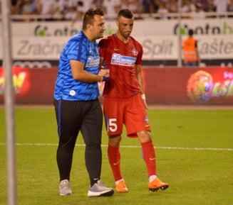 Probleme mari pentru FCSB dupa meciul de la Split: Dica nu mai are fundasi!