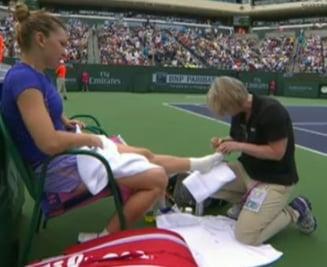 Probleme medicale pentru Simona Halep in timpul finalei de la Indian Wells